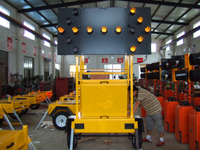 Winch Lifting Type Trailer Mounted And Solar Power Arrow Board